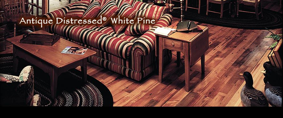 Antique Distressed® White Pine - Hometime Log Cabin (PBS TV Series)